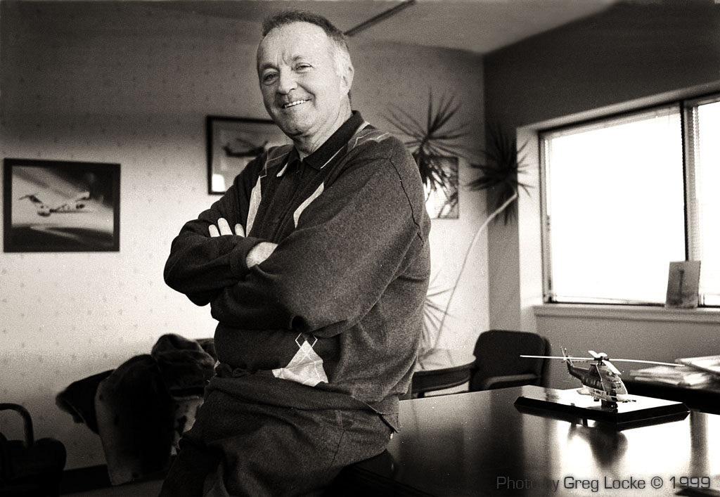 Helicopter magnate Craig Dobbin in his St. John's office. Photo by Greg Locke © 1999 ...click to enlarge.