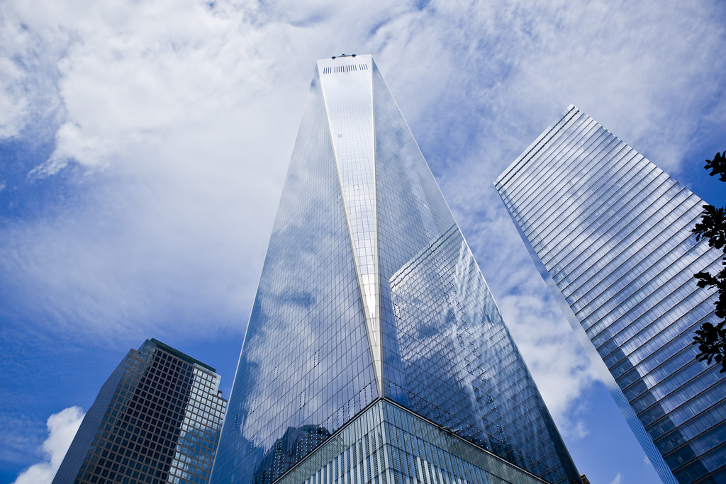 NEW YORK, Nov. 3, 2014 -- One World Trade Center rose out of the ashes of 9/11. On Monday, the first workers moved in.  BLOG: When going to work is a remarkable event