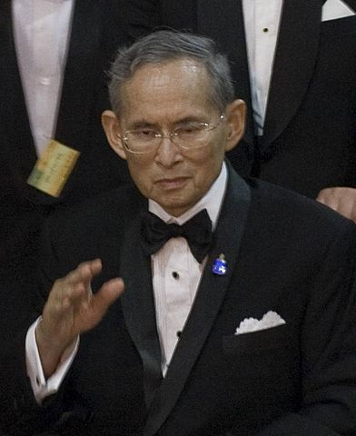 Thailand's King Bhumibol Adulyadej in Bangkok in 2010. Photo by Bhumibol_Adulyadej, Government of Thailand