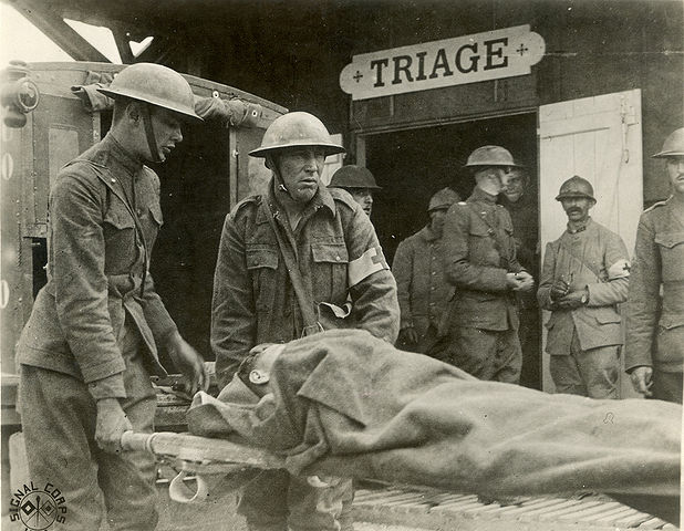 Triage Wounded Triage France, WWI. Otis Historical Archives Nat'l Museum of Health & Medicine  Creative Commons licence