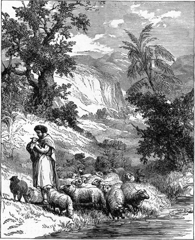 An illustration from Bible Pictures and What They Teach Us by Charles Foster. Public domain.