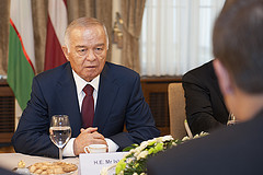Islam Karimov in 2013. Photo by xx, Courtesy of the Parliament of Latvia via Flickr. Creative Commons