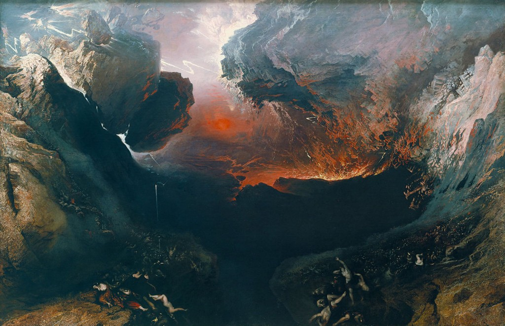 John Martin - The Great Day of His Wrath c 1853, Painting in public domain via Wikipedia