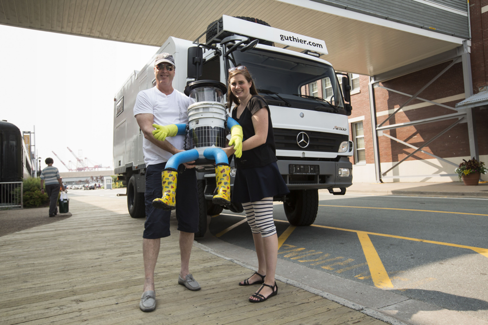 HALIFAX, Canada -- hitchBOT creators David Harris Smith and Frauke Zeller, July 2014. Photo by Norbert Guthier
