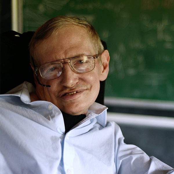 Stephen Hawking's profile photo on Facebook