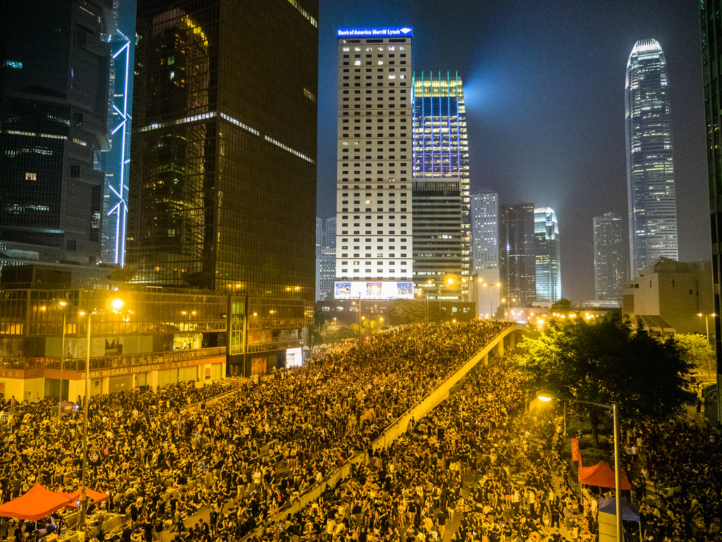 Hong Kong's Umbrella Revolution. Photo by Pasu Au Yeung, Creative Commons