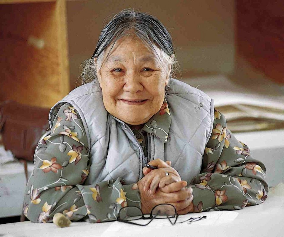 Inuit artist Kenojuak Ashevak. Photo  via Wikipedia, provided by artist. Creative Commons