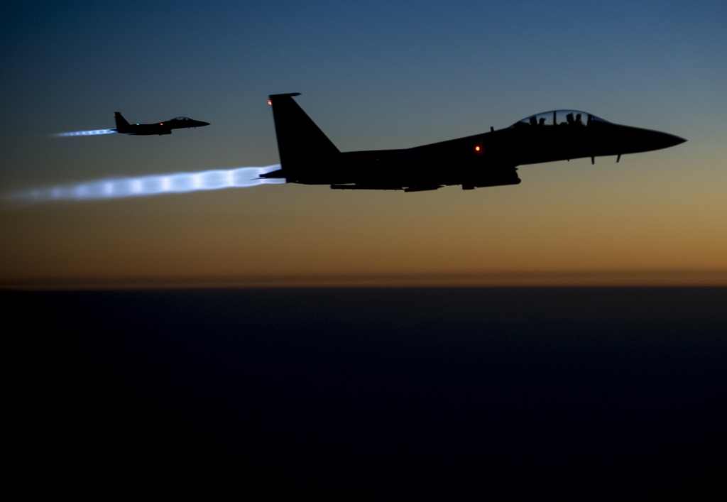 Mission completed, but not necessarily accomplished. two United States Air Force fighter jets, on September 23, fly 