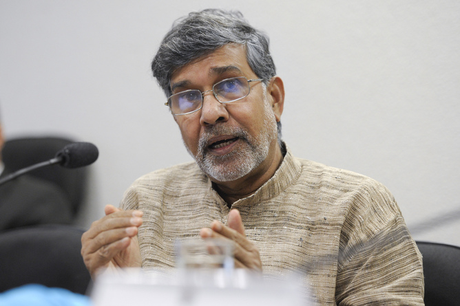 Nobel Peace Prize winner Kailash Satyarthi.  Photo by Senado Federal via Flickr, Creative Commons