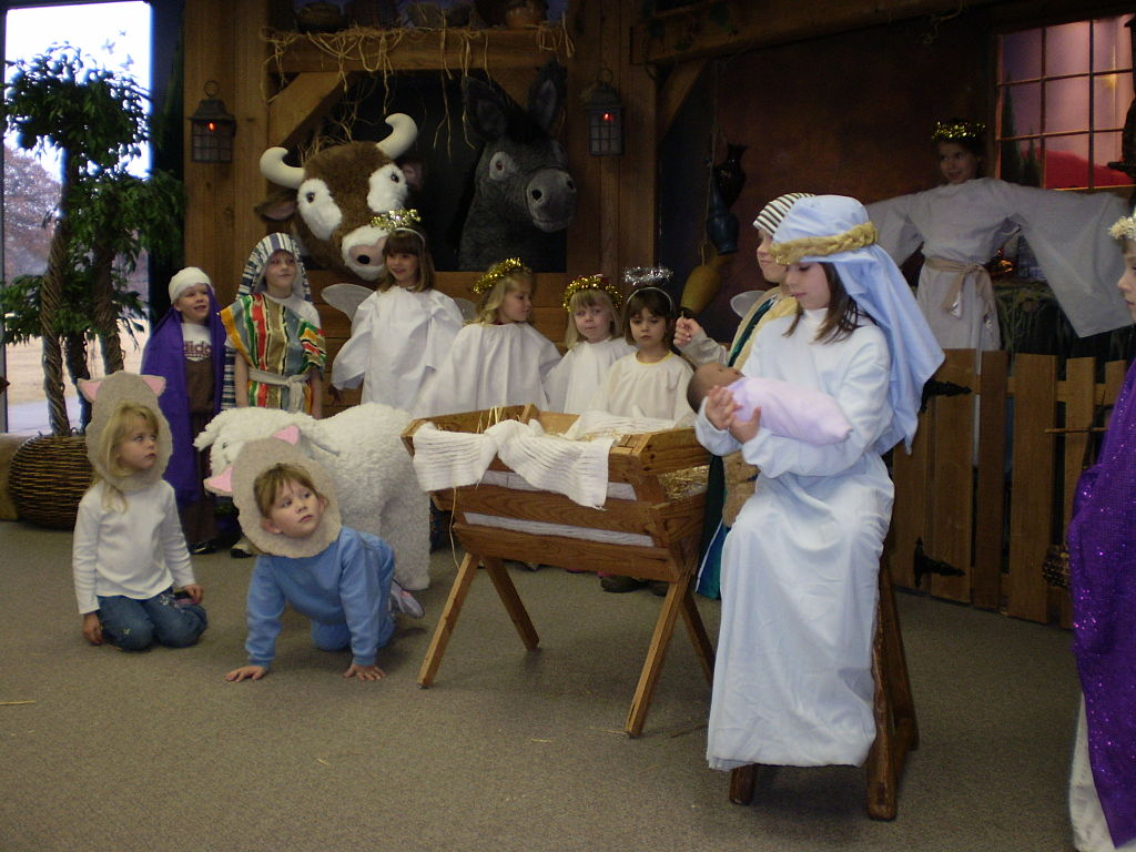 Children's Nativity Play in  Edmond, Oklahoma, 2007. Photo by Wesley Fryer, Creative Commons
