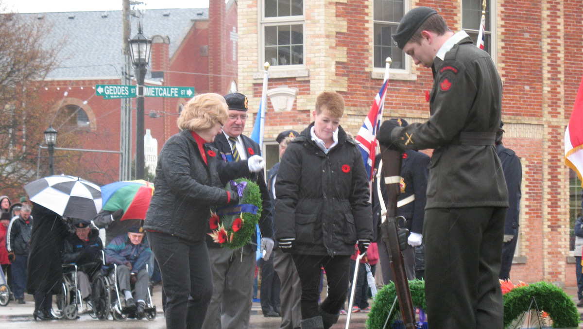 Canadian Remembrance Day Services in Elora, Ontario. Photo by David Wood via Flickr, Creative Commons