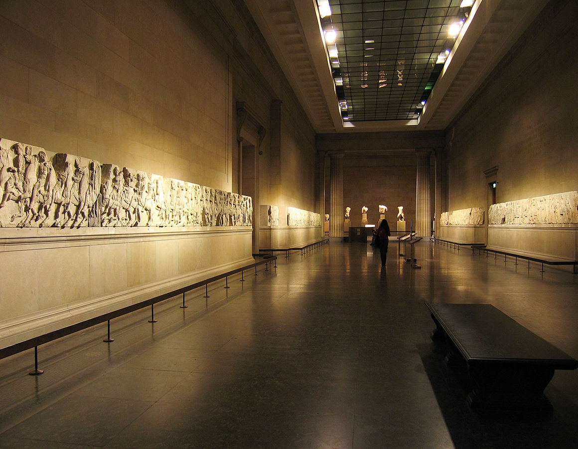 The Elgin Marbles on display in the British Museum.