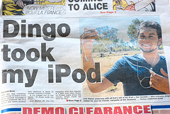 """Photo by """"Maddie"""" via Flickr, with caption: """"Who says Australian journalism is dead?"""""""
