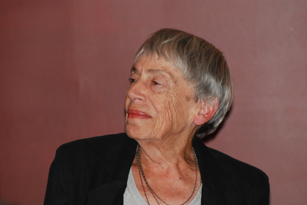Ursula K. Le Guin in 2012. Photo by OnceAndFutureLaura via Flickr, Creative Commons