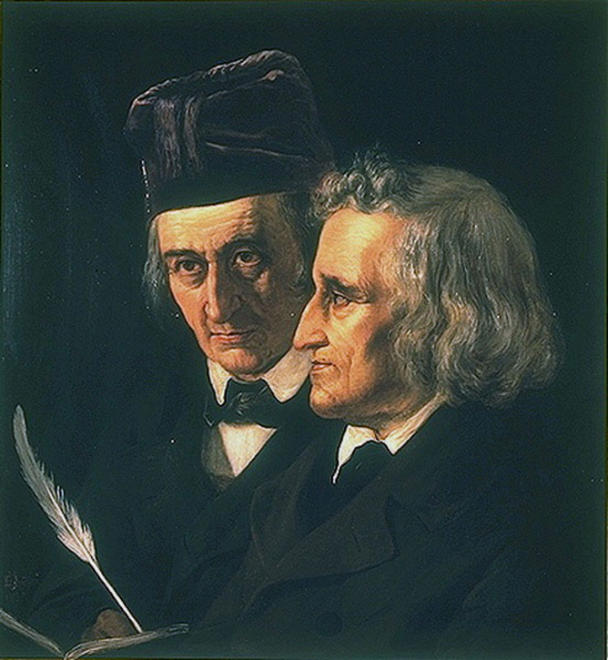 Jacob and Wilhelm were Grimm, no question. Wikimedia Commons