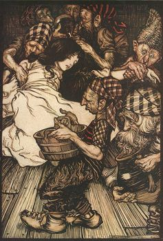 Arthur Rackham Snow White. Wikimedia Commons, CC BY