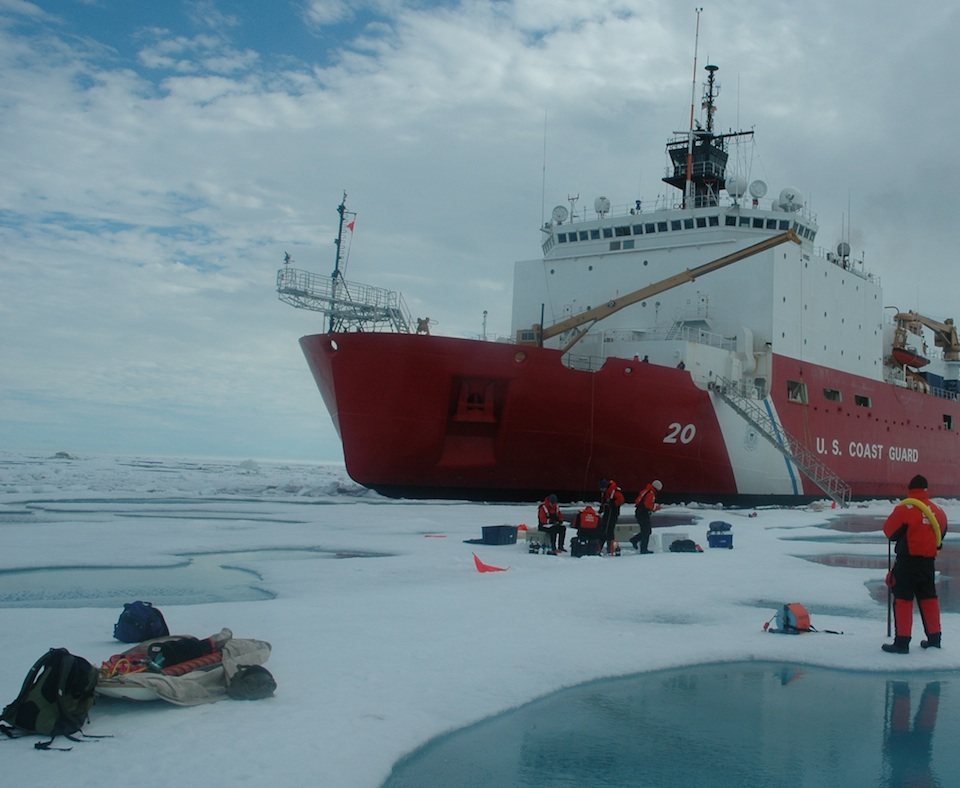 The gathering of the information that sustains climate-change certainties intermittently involves men and women in extraordinary activities, as this image suggests. It was made in the summer of 2010 during an examination of the ice atop the Chukchi Sea, in the Arctic Ocean, by three American government agencies, the Army Corps of Engineers, the Coast Guard and the U.S. National Aeronautics and Space Administration. KATHRYN HANSEN/NASA