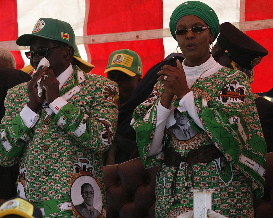 Robert and Grace Mugabe. Photo by Dandjk Roberts via Wikipedia, Creative Commons