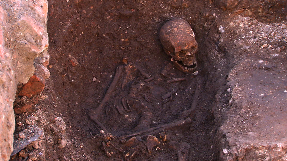 Remains of English King Richard III, whose remains were found under a car park in 2012. Photo courtesy of the University of Leicester