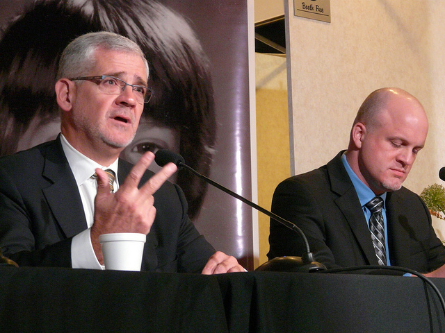 Doctors Julio Montaner and Thomas Kerr .Photo by Brent Granby Creative Commons