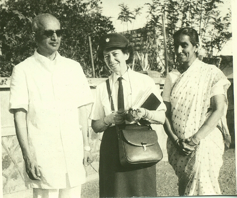 Lotta Hitschmanova at a USC-supported hospital in Karnataka, India. Photo courtesy of Unitarian Service Committee