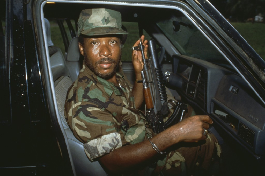 In Firestone and the Warlord, FRONTLINE and ProPublica investigate the secret relationship between the American tire company Firestone and the infamous Liberian warlord Charles Taylor (pictured). Photo Credit: © Patrick Robert/Sygma/Corbis