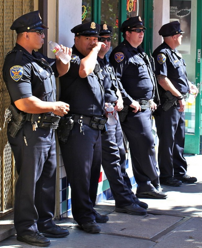 Armed and dangerous, in the right circumstances, these members of the San Francisco Police Department were photographed in 2012. Wikimedia Commons