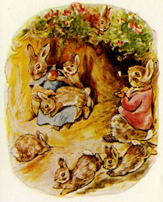 Beatrix Potter's beloved characters. Image via Project Gutenberg
