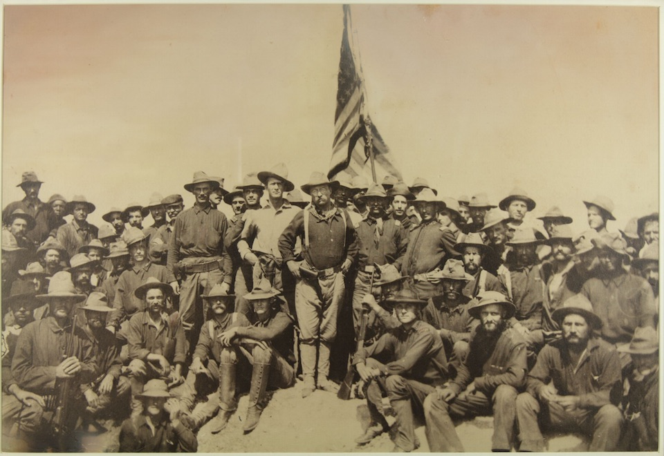 Roosevelt and the Rough Riders atop San Juan Hill. 1898. Theodore Roosevelt Birthplace National Historic Site.