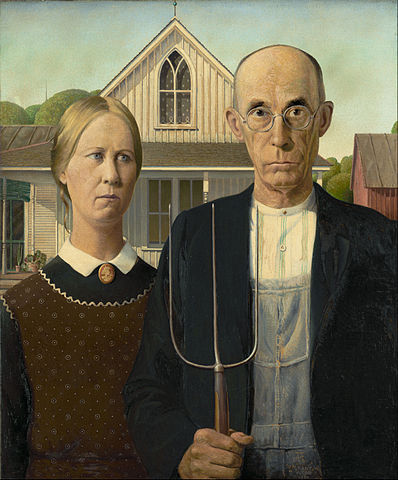 """Grant Wood - American Gothic - Google Art Project"" by Grant Wood. Creative Commons"
