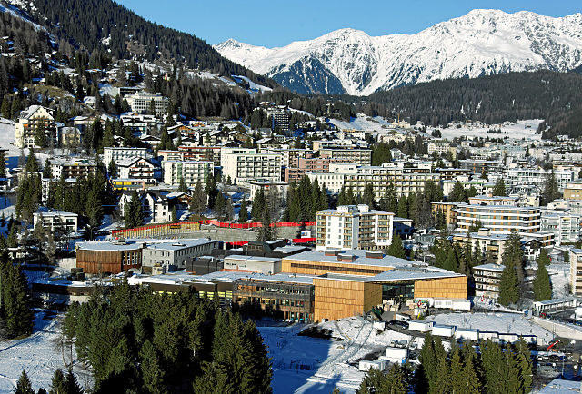 Davos Conference Center, Switzerland. World Economic Forum photo via Wikipedia, Creative Commons