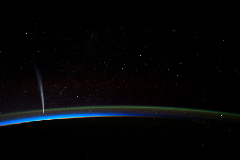 """Sungrazer"" Comet Lovejoy in 2011, from the International Space Station. (NASA photo)"