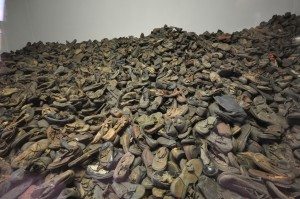 The shoes of prisoners murdered in Auschwitz, liberated January 27, 1945. Public domain