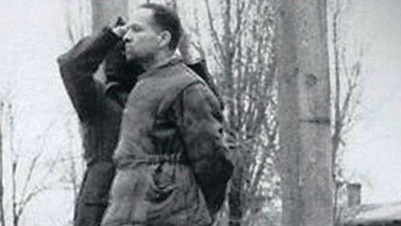 Rudolf Hoess, a commandant of the Auschwitz Birkenau camp, was executed on April 16, 1947 at the camp, after trial in Poland. Hoess walked calmly to the gallows and, once the hangman put the noose around his neck, moved his head to adjust it. A Polish historical journal, Focus Historia, published a photographic record of the execution on the occasion of its 60th anniversary. The Auschwitz Birkenau Memorial Museum has published an account of the German's last minutes, at auschwitz.org/en/museum/news/auschwitz-commandant-rudolf-hoess-on-the-gallows,461.html. WIKIPEDIA COMMONS