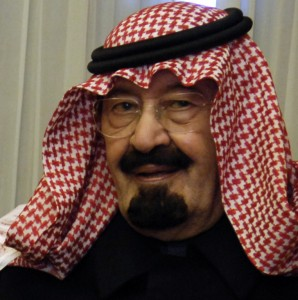 Saudi Arabia King Abdullah bin Abdul al-said  in 2007. U.S. government photo/ Cherie A. Thurlby.