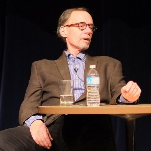 David Carr, speaking in Canada in 2013. Photo by Ian Linkletter via Wikimedia