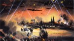 Depiction of mass bomber raid on Cologne, by The National Archives, UK. via Wikimedia Commons