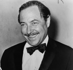 American playwright Tennessee Williams, on the 20th anniversary of The Glass Menagerie. Photo by Orlando Fernandez, World Telegram, U.S. Library of Congress. New York World-Telegram & Sun Collection.