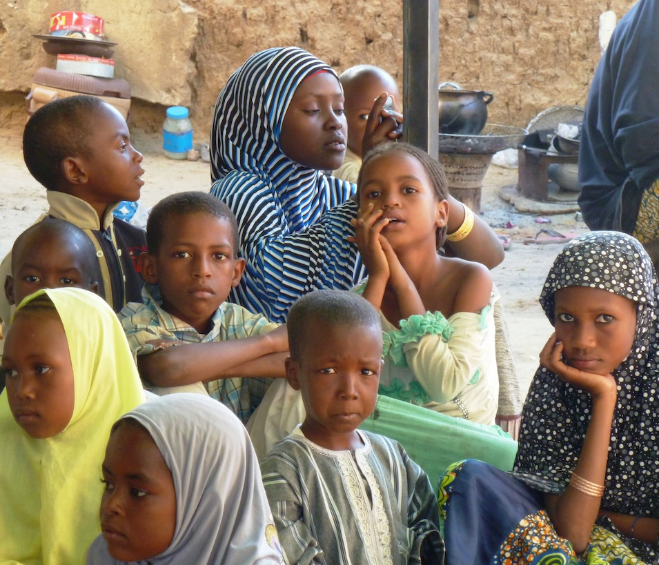 Children in a refugee camp in Niger