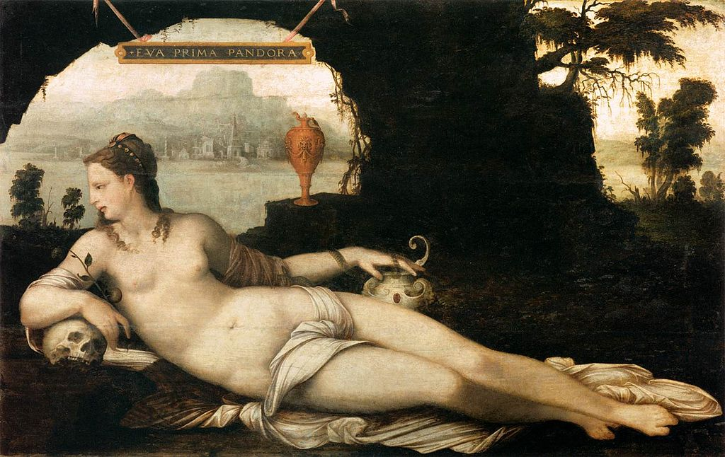 Eva Prima Pandora, by Cousin, Jean the Elder. circa 1550