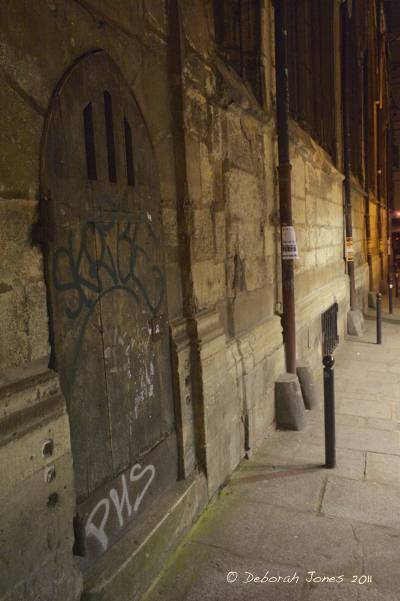 Tagging -- writing your name or handle -- is akin to a dog marking its territory; it's a pissing contest, writes Liam Miller. Above, taggers mark their territory on historical buildings in the Latin Quarter of Paris. © Deborah Jones 2015
