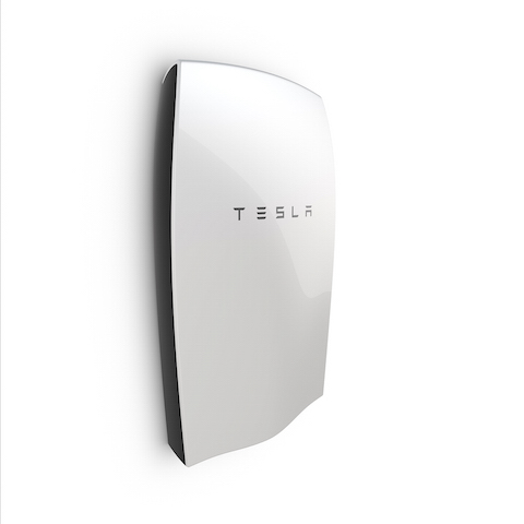 "The Tesla ""Powerwall"" battery."