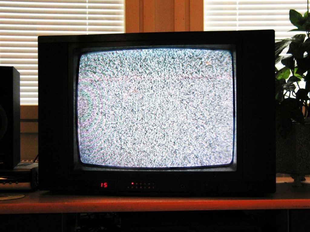 TV noise. Photo Mysid via Wikipedia, Creative Commons