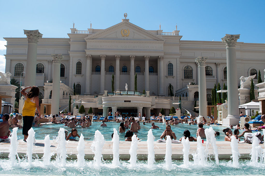Mercury Pool, Caesar's Palace, Los Vegas. Photo by InSapphoWeTrust, Creative Commons via Wikimedia