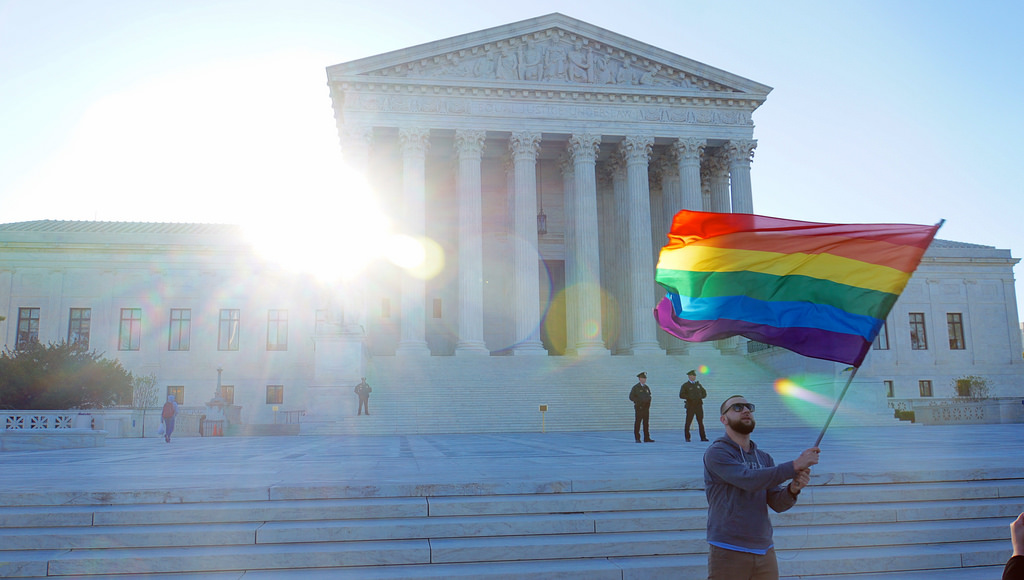 Arguments at the United States Supreme Court for Same-Sex Marriage on April 28, 2015. Photo by Ted Eytan via Flickr, Creative Commons