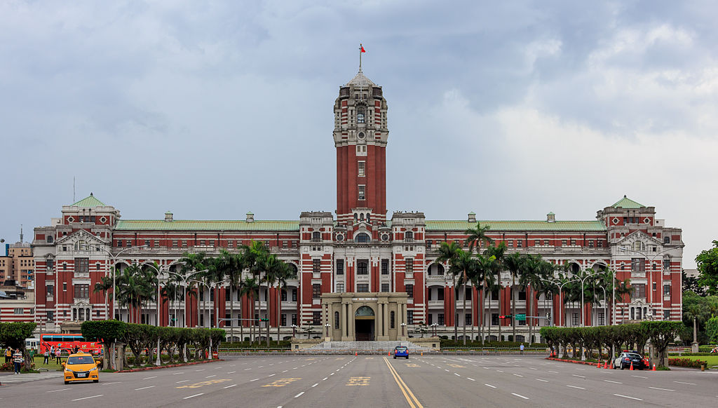 The Presidential Office Building in Taipei, Taiwan, in 2014. Photo by Uwe Aranas via Wikimedia, Creative Commons