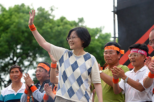 Taiwan's DPP leader Tsai_Ing-wen in 2008 Photo by MiNe via Wikimedia, Creative Commons