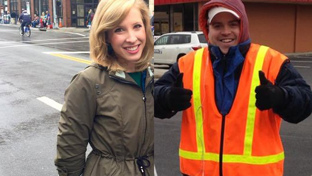 Alison Parker and Adam Ward, gunned down by an enraged former co-worker at the WDBJ7 TV station in