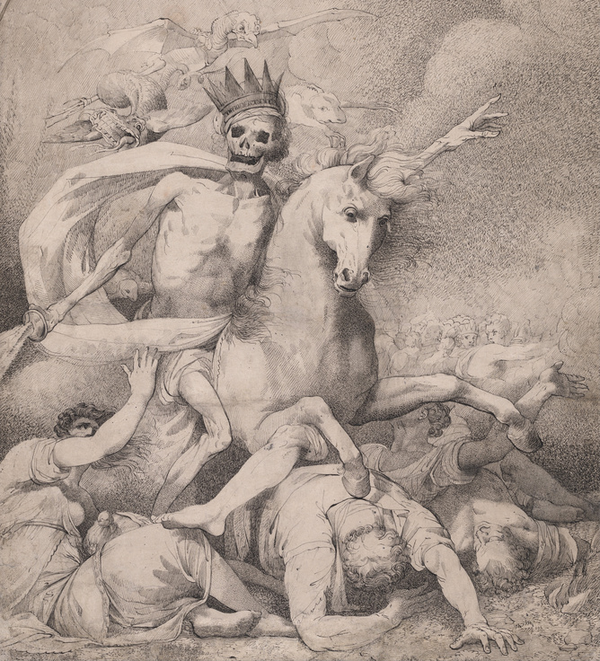 John Hamilton Mortimer, Death on a Pale Horse, 1775.