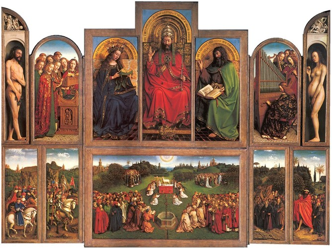 Jan van Eyck, Ghent Altarpiece, Saint Bavo Cathedral, c. 1430.